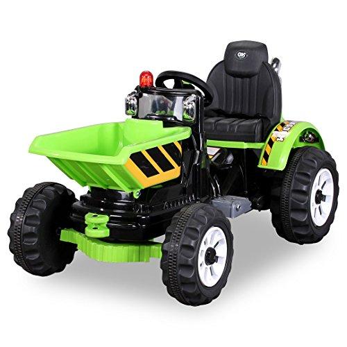 Kinder Radlader JS328C 2 x 25 Watt Motor Elektro Lader Kinderauto Kinderfahrzeug (grün)