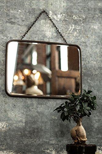 Vagabond Vintage, Metal Bevel Glass Mirror with Chain