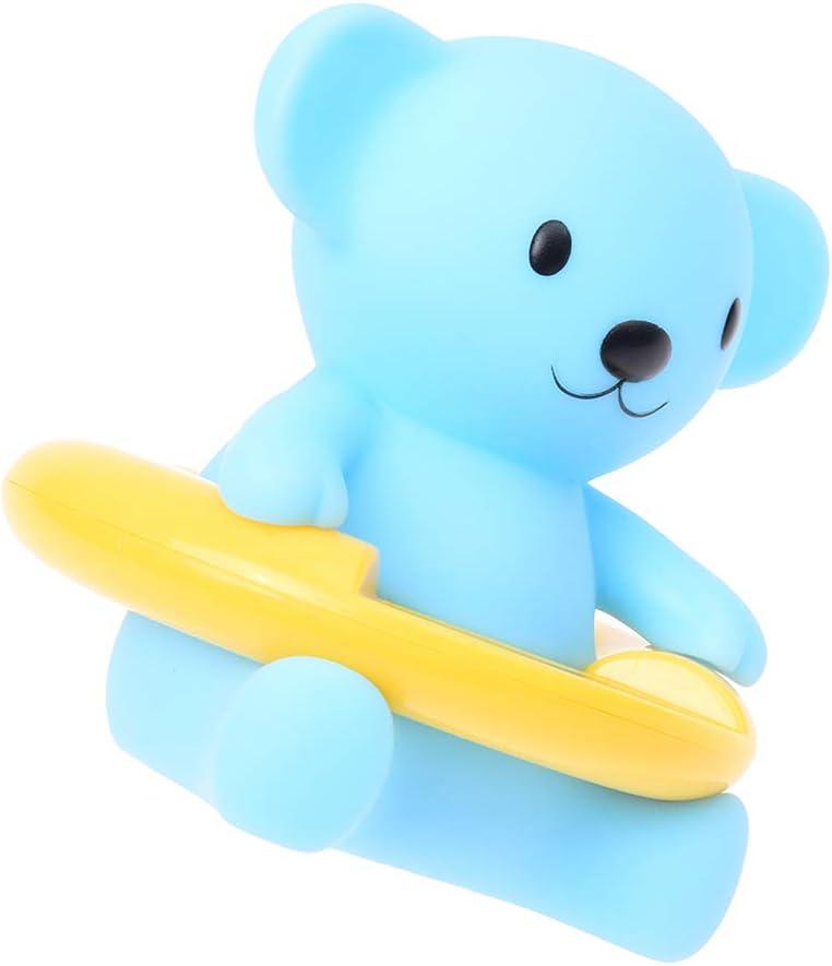 8.5cm Ours bleu Ogquaton Thermom/ètre de bain pour b/éb/é de qualit/é sup/érieure pour b/éb/é et thermom/ètre de bain flottant jouet pour baignoire et piscine 9.5 1pc