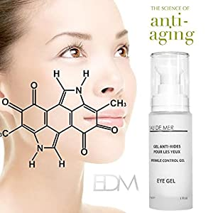 Eau De Mer Wrinkle Control Eye Gel - Reduces Wrinkles, Fine Lines and More for Youthful Radiant Skin