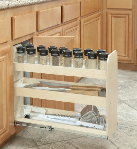 Slide-A-Shelf SAS-SI-3T-NL, Made-To-Fit Narrow Adjustable Three Tier Organizer, Full Extension, Low profile by Slide-A-Shelf