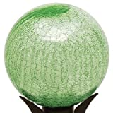 12'' Gazing Globe in Crackle Light Green