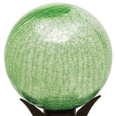 12'' Gazing Globe in Crackle Light Green