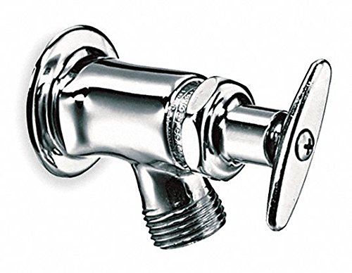 (Chicago FAUCETS Rigid Sill Faucet, Tee Handle Type, Polished Chrome Finish)