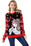 Women's Funny Unicorn Pullover - Princess Party Unicorn, Medium