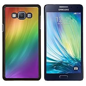 TECHCASE---Cubierta de la caja de protección para la piel dura ** Samsung Galaxy A7 ( A7000 ) ** --Remolino del arco iris