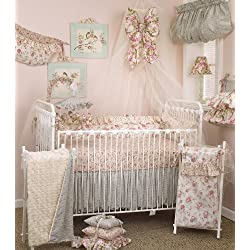 Cotton Tale Designs Tea Party Girl's Crib Bedding Set, 8 Piece