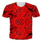 NEWISTAR Unisex Men Women Couple 3D Graphic Cancer T Shirts Tee Short Sleeve Shirts S