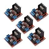 DAOKAI® 5PCS Dual H Bridge DC Stepper Motor Drive Controller Board Module L298N for arduino