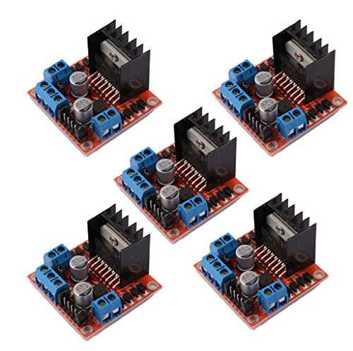 DAOKI 5 PCS L298N Motor Drive Controller Board DC Dual H-Bridge Robot Stepper Motor Control and Drives Module for Arduino Smart Car Power UNO MEGA R3 Mega2560