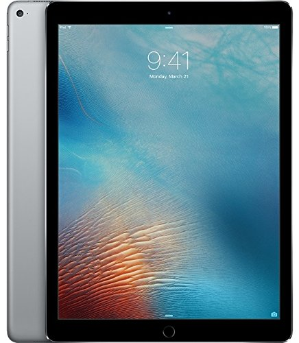 Apple iPad Pro 12.9in Tablet (256GB Wi-FI, Space Gray)(Renewed)