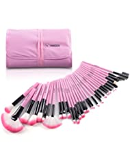 Makeup Brushes, VANDER 32pcs Professional Soft Synthetic Kabuki Cosmetic Eyebrow Shadow Makeup Brush Set Kit