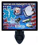 Patriotic Night Light - Serving Our Community EMS - Medical