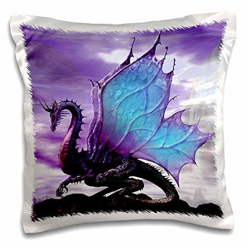 Dragon Pillowcase - 3dRose pc_4145_1 Fairytale Dragon-Pillow Case, 16 by 16