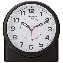Timelink 88659 Non-Ticking Alarm Clock with Smartlite Technology & Brightness Control
