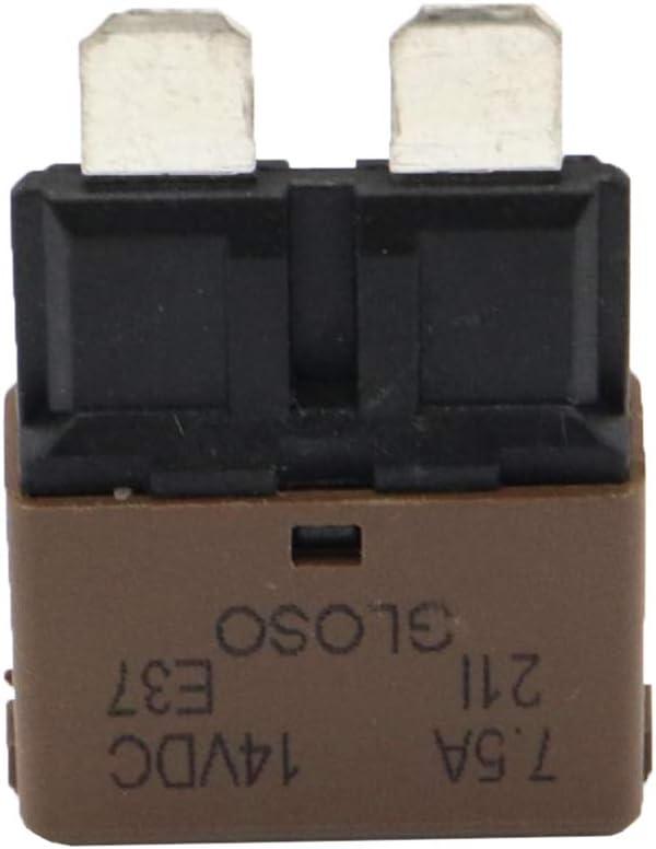 15A 20A B Baosity Marine De R/éinitialisation Automatique De Disjoncteur De Fusible De 8pcs 30A 25A 7.5A 10A 5A 6A