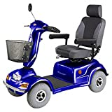 CTM - HS-890 - Full Size Bariatric Heavy Duty Road Class Scooter - 4-Wheel - Blue