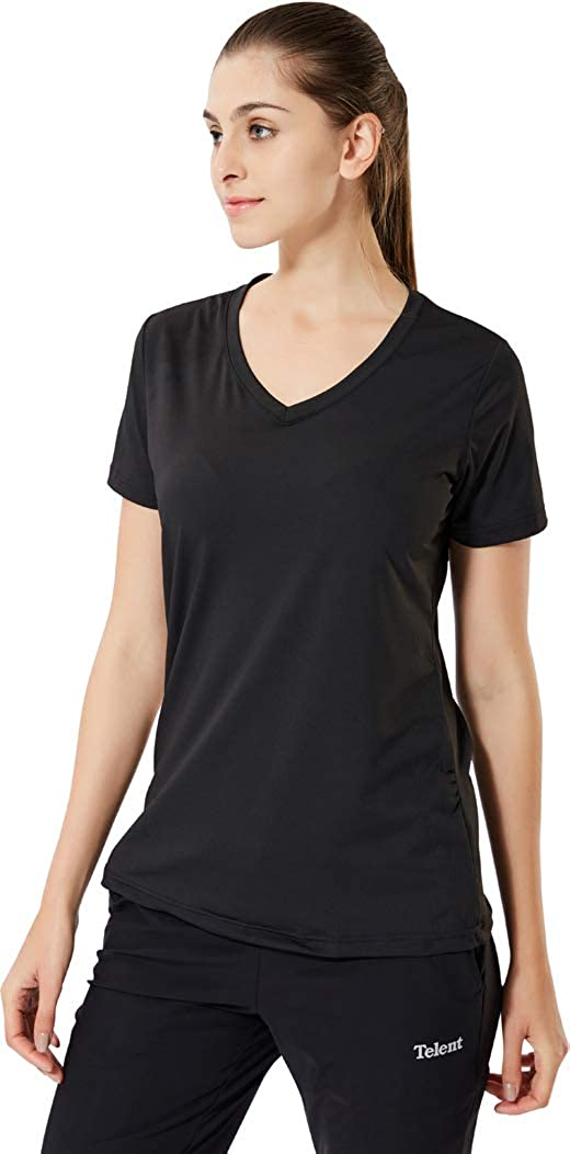 jeansian Femme Sport Slim Quick Dry Breathable Short Sleeve T-Shirt Tee Tops SWT240
