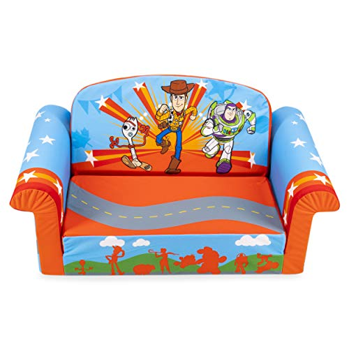 Marshmallow Furniture, Children's 2-in-1 Flip Open Foam Sofa, Disney Toy Story 4, by Spin Master (Bean Disney Chair Bag)