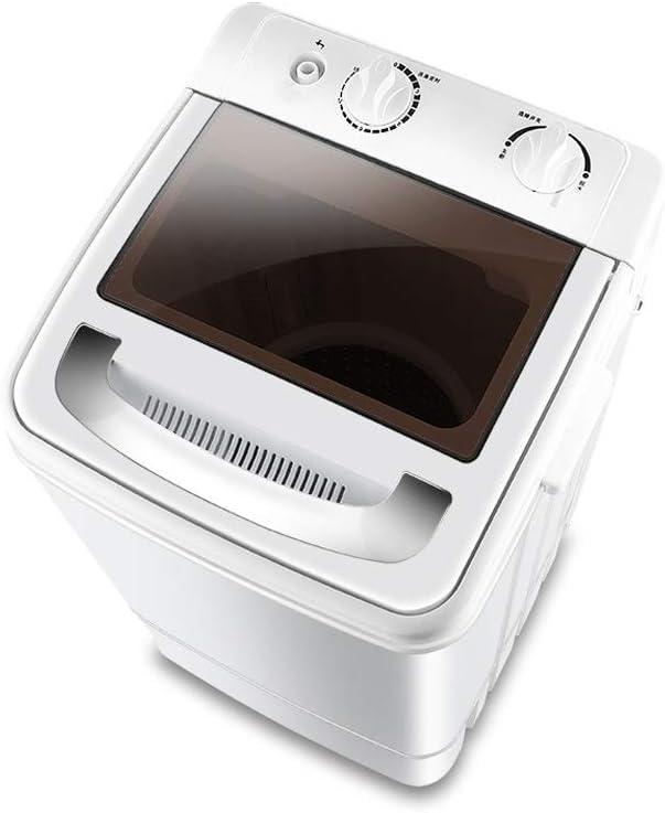 YALIXI Lavadora, Mini Lavadora, Lavadora semiautomática monocilíndrica con función de deshidratación, Filtro silencioso Lavado programado, Ventana Disponible, 7 kg,Negro