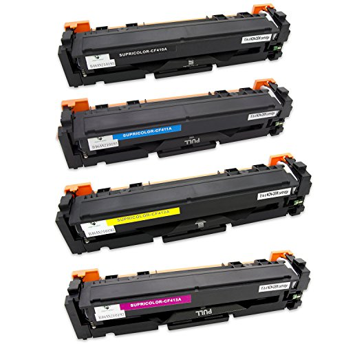supricolor 1 set toner cartridge replacement for hp 410a hp cf410a high yield for hp color. Black Bedroom Furniture Sets. Home Design Ideas