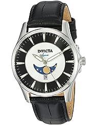 Invicta Men's 'Vintage' Quartz Stainless Steel Casual Watch, Color:Black (Model: 23128)