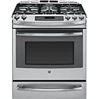 Profile P2S920SEFSS 30 Profile Series Slide-in Dual Fuel Range with Sealed Burner Cooktop, in Stainless Steel