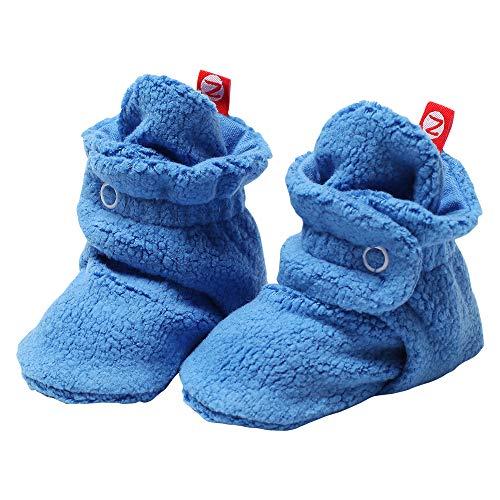 Zutano Unisex-Baby Cozie Fleece Bootie, Periwinkle, 6 Months ( 0-6 months)