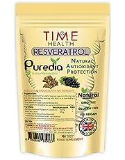 Trans Resveratrol – Premium Merk Puredia – 180 Capsules – Voor 3 Maanden Gebruik – Effectieve Gesplitste Dosis voor Maximale Voordelen van Trans-Resveratrol – In het VK Vervaardigd – Geen Additieven - Getest Door Derden