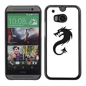 Carcasa Funda Case // V0000558 Black Dragon Logo// HTC ONE M8