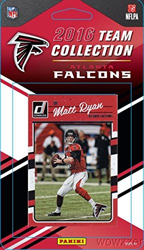 Atlanta Falcons 2016 Donruss NFL Football Factory Sealed Limited Edition 12 Card Complete Team Set with Matt Ryan, Julio Jones, Deion Jones, Legend Warrick Dunn & Many More! Shipped in Bubble Mailer! (Atlanta Falcons Mint Nfl Card)