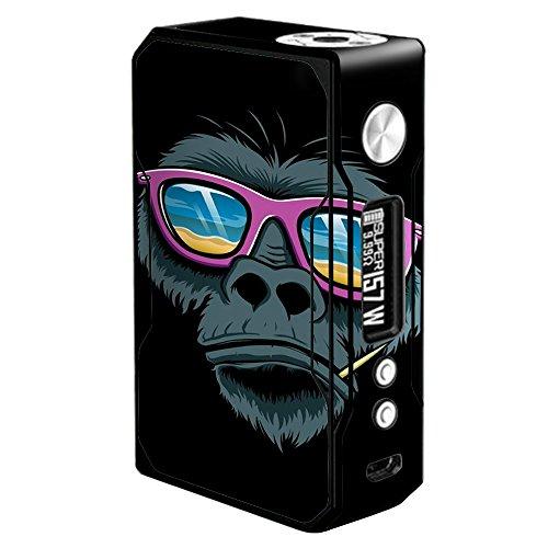 Skin Decal Vinyl Wrap for Voopoo Drag 157W TC Resin/Reg. Vape Mod Skins Stickers Cover / Chimp toothpick - Sunglasses Trick