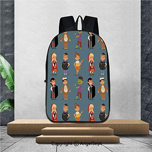 3D Printing Student School Backpack,Cute kids wearing Halloween party costumes vector,16.5