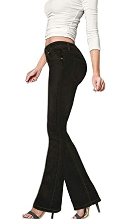 21ba49098a HyBrid   Company Women s Slim Boot Cut Stretch Pants at Amazon ...