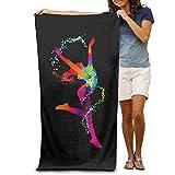 Super Absorbent Beach Towel Happy Dance Polyester Velvet Beach Towels 31.551.2 Inch