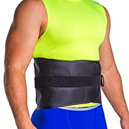 Lumbar Corset Brace for Old Age Back Pain in Elderly Men & Women - Easy Adjustment for Arthritic Hands (Large)