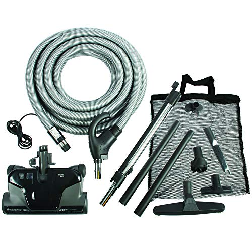 Cen-Tec Systems 94060 Premium Total Control Central Vacuum Electric Powerhead Package with 30 Foot Hose, Black (Attachment Vacuum Central)
