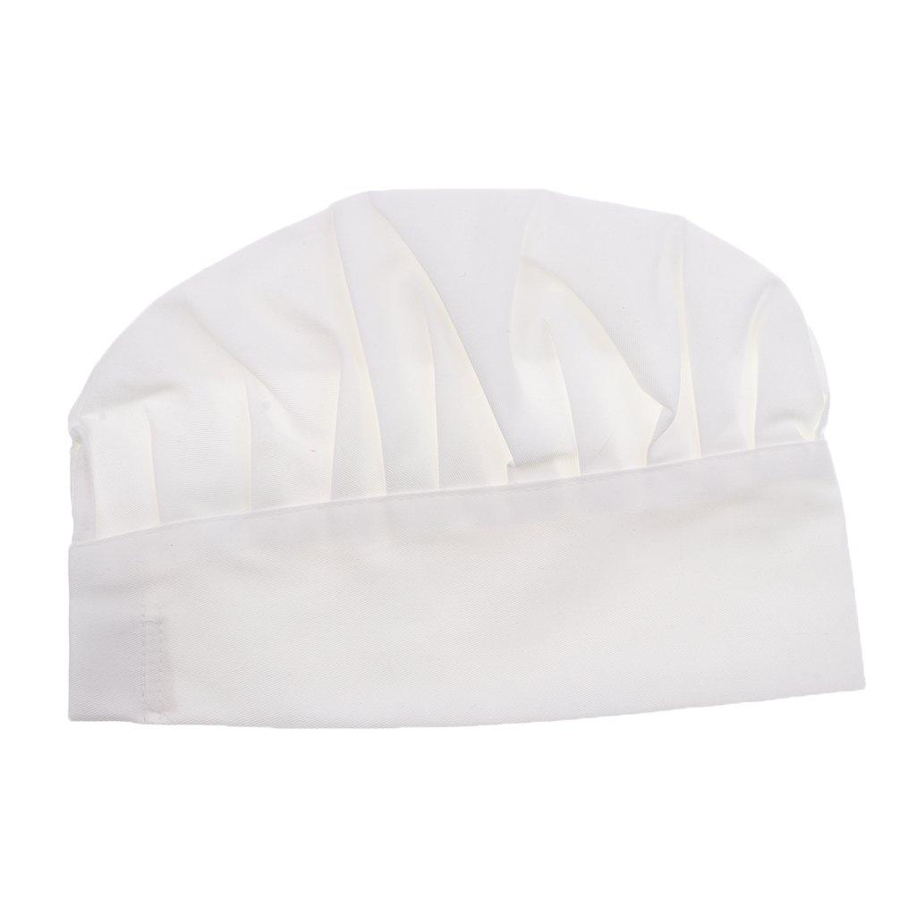 MagiDeal Adulto Elastico Cottura Tappo Costume Cappello da Chef Cuoco 4-colori