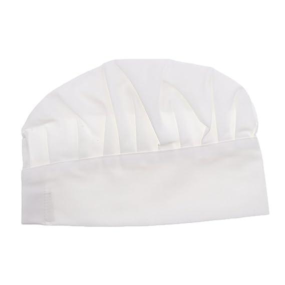 Sombrero De Cocinero Chef Adulto Elástica Panadero Elástica Cocina Casquillo  Del Traje - blanco 6777ad1ee3c