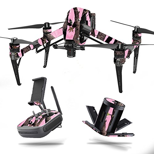 MightySkins Skin for DJI Inspire 2 – Pink Tree Camo | Protective, Durable, and Unique Vinyl Decal wrap Cover | Easy to Apply, Remove, and Change Styles | Made in The USA