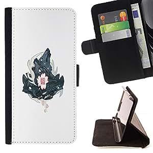 Momo Phone Case / Flip Funda de Cuero Case Cover - Tres Lobos Lobo cresta - HTC One M9