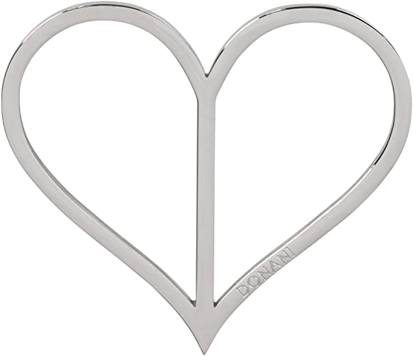 Donani Dirndlspangerl rustikales Herz Silber matt Dirndlschmuck Damen