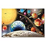 Melissa & Doug Solar System Floor Puzzle, Floor Puzzles, Easy-Clean Surface, Promotes Hand-Eye Coordination, 48 Pieces, 91.44 cm L x 60.96 cm W