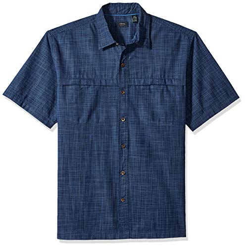(Arrow Men's Tall Coastal Cove Crosshatch Shirt, Navy Blazer 2X-Large Big)