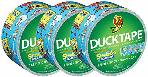 Duck Brand Duct Tape, SpongeBob SquarePants, 1.88 Inches x 10 Yards, (Pack of (Spongebob Cold)