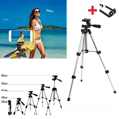 Price comparison product image TONGROU Professional Camera Tripod Stand + Phone Holder for Smartphone iPhone Samsung