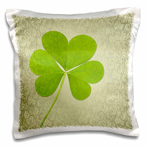 3dRose Clover St Patricks Whimsical Pillow pc_55662_1 product image