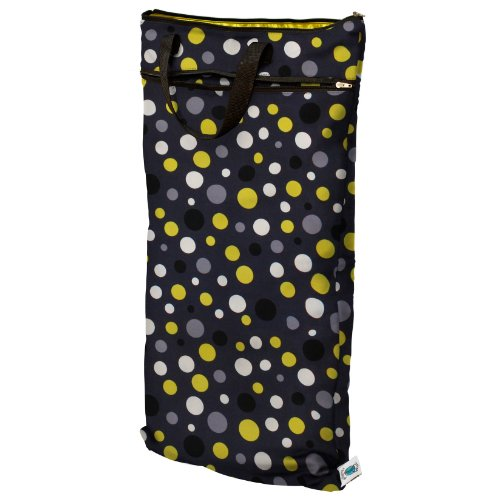 Planet Wise Hanging Wet/Dry Bag, Bumble Dot