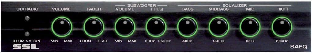 Sound Storm Lab S4EQ 4-Band Pre-Amp Car Equalizer