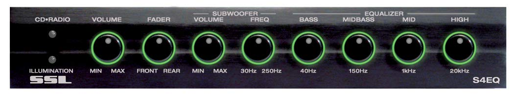 SSL S4EQ Four Band Preamp Equalizer with Subwoofer Output and Dual Color Illumination Sound Storm Laboratories
